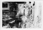 Image - Photograph of the porch of the trapper's cabin