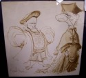 Image - Caricature of Two Figures