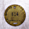 Image - miner's brass safety tag